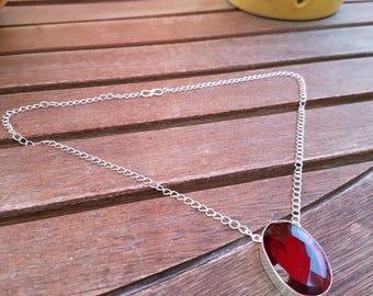 Mozambique Garnet Handmade Necklace