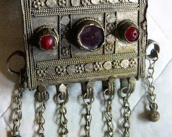 Antique silver prayer box from Yemen, Yemen jewellery