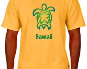 Hawaii Turtle on Comfort Colour Butter Yellow