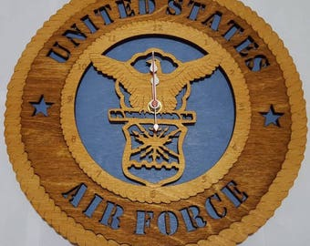 United States Air Force Clock Wooden Model