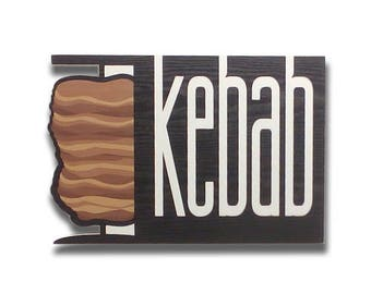 Kebab - Kebab sign, Shop sign, Wall signs, Food signs, Wooden signs, Signs kitchen, Wall art, Wall decor | Tropparoba - 100% made in Italy