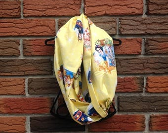 Snow White and the Seven Dwarves Infinity Scarf Adult Cotton Fabric