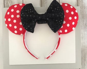 Minnie Mouse Inspired Ears, Mickey Ears