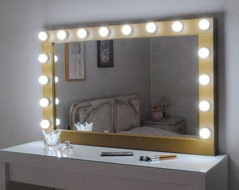 hollywood vanity mirror with lights makeup mirror black. Black Bedroom Furniture Sets. Home Design Ideas