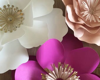 Summer is Here!  Colorful Paper Flower Backdrop