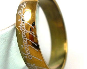 Lord of the Rings Stainless Steel Ring