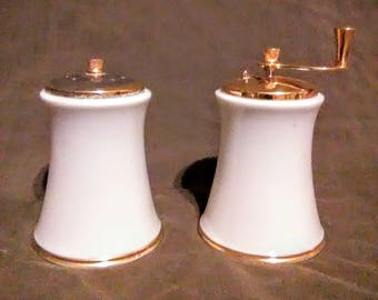 "Vintage Lenox ""Solitaire""salt shaker and pepper mill"