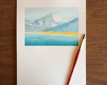 Original Mt Cook Watercolor