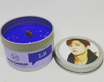 I.M- 4OZ- Scented Candle- MonstaX- Kpop- Wood Wick Candle- Kpop Candle- Kpop Gift- Korean- Hallyu