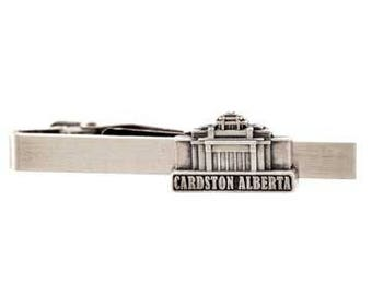 Cardston Alberta Temple Silver Tie Bar - LDS Gifts