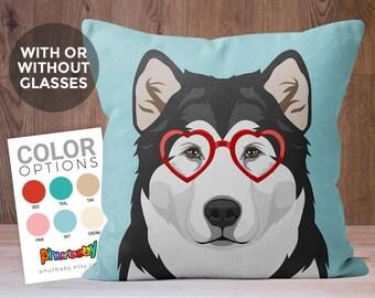 Alaskan Malamute Pillow | Pet Pillow | Cute Dog Gift | Dog Throw Pillow | Stuffed Dog Pillow | Decorative Pillow | Birthday Gift | Wife Gift