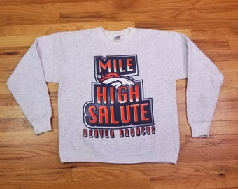 Vintage Denver Broncos Mile High Salute Sweatshirt size Medium M