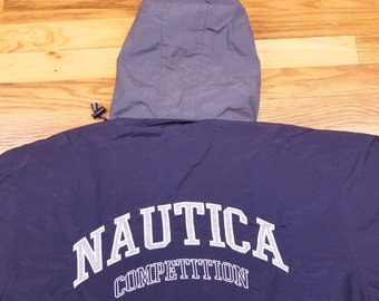 Vintage 90s Nautica Competition Spell Out Jacket Coat Size Medium M