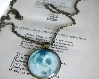 Full Moon pendant necklace, Moon pendant, Full Moon Jewerly, Moon Lover Necklace, Round Moon Necklace, BOHO Necklace, Hippie pendant