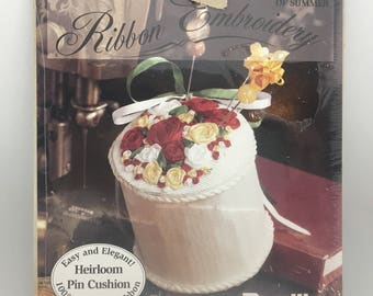 Bucilla Silk Ribbon Embroidery Kit Last Rose of Summer Pin Cushion