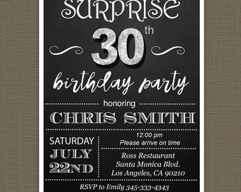 30th birthday invitation | etsy, Birthday invitations