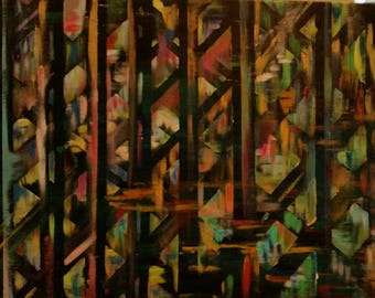 Mosaic of Life: Abstract Acrylic Painting