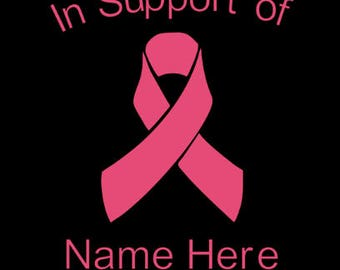 Breast Cancer Ribbon- In Support of Ribbon- Personalized- Customizable- Pink- Car Decal- Car Accessories
