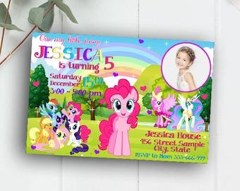 Little Pony Invitation, My Little Pony Invitation, My Little Pony Birthday, My Little Pony Birthday Invitations, My Little Pony Party