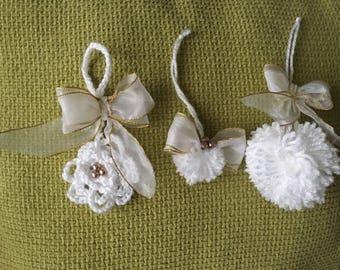 Christmas handmade decorations set of 3