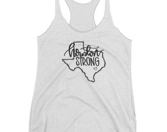 Houston Strong Relief Tank | Handlettered | Hurricane Harvey Relief | Inspirational | Womens Tank | Limited Edition