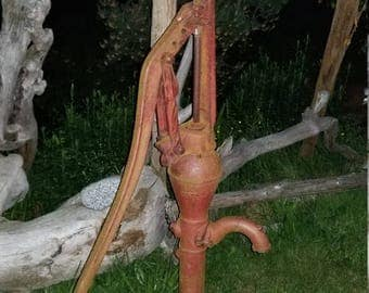 Old hand water well pump