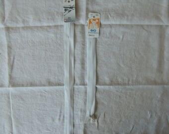 Length 60 cm white invisible zipper