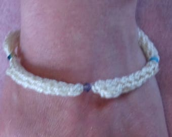 Handmade swarovski knitted bracelet
