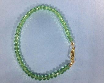 SALE 30% Green Amethyst Bracelet, Amethyst  Gemstone Bracelet , Real Amethyst  Bracelet, Birthstone Bracelet,  February  Birthstone bracelet
