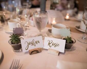 Printable Wedding Place Name Cards 0-50