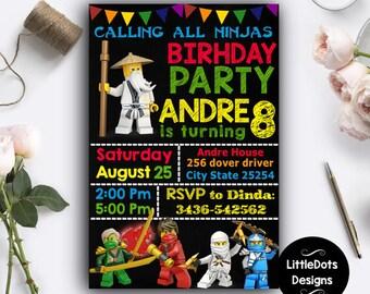 Lego Ninjago Invitation, Lego Ninjago Birthday, Lego Ninjago Party, Lego Ninjago Birthday Invitation, Lego Ninjago Printables, Lego Ninjago