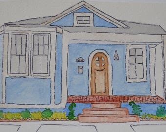 Mid City Cottage Watercolor