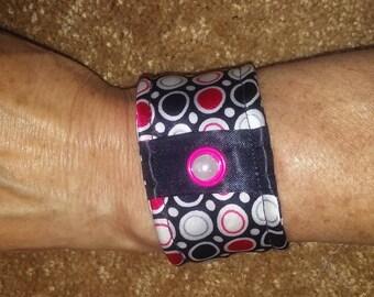 Fabric bracelet up-cycled
