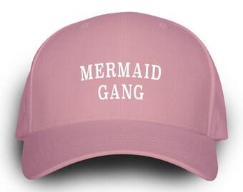 Mermaid Gang Dad Hat Pink