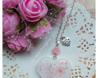Kawaii Heart necklace with sticker