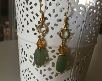Jade stone earrings