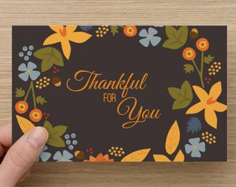 Thanksgivings / Thankful for you/ Greeting Card /Fall