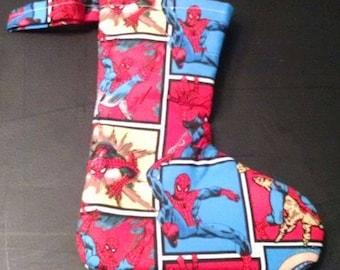 Small Christmas Stocking Spiderman