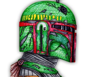 Star Wars Boba Fett Zentangle Print, Boba Fett Art, Boba Fett Poster, Star Wars Poster, Star Wars Prints, The Force Awakens, Wall Art