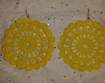 Yellow Sun Flower Earrings