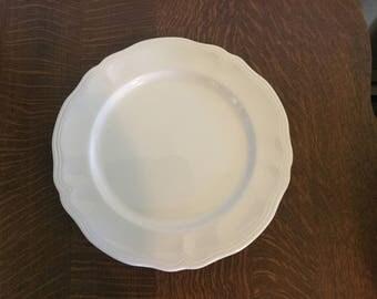 Federalist Ironstone Platter, vintage white, Japan made, mid century,cake plate,serving platter
