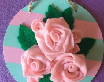 Hanging Pink Roses