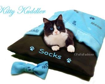 Kuddler - Blue Kitty Meow - LAST ONE