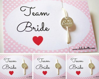 "Wristband ""Team Bride"" ~ 4 ~ silver"