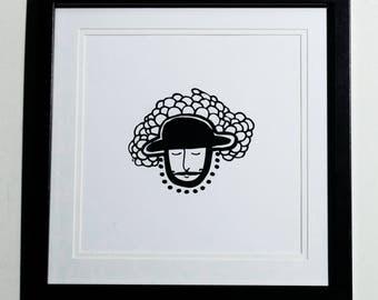 Moustache Man Print