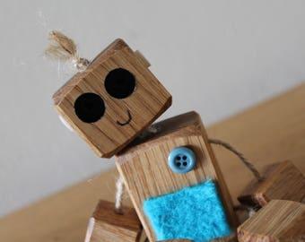 Ned the wooden robot // oak // shelfie // nursery // childrens bedroom