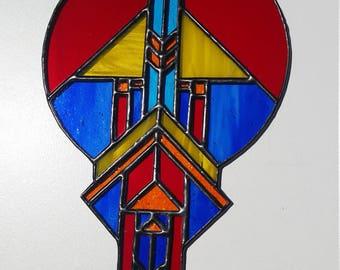 Dream Catcher - glass stained glass suncatcher
