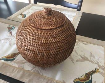 Vintage Coil Type Basket.....