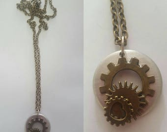 "Steampunk ""Essence of Time"" Pendant"