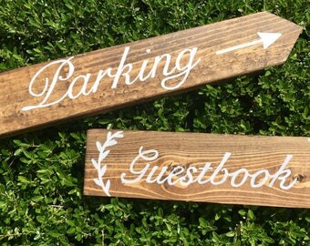 Wedding Guestbook or Parking Sign